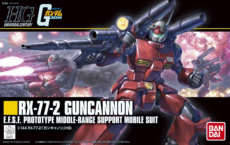 【HGUC】RX-77-2 ガンキャノン(その1:ヤスリ万歳!)