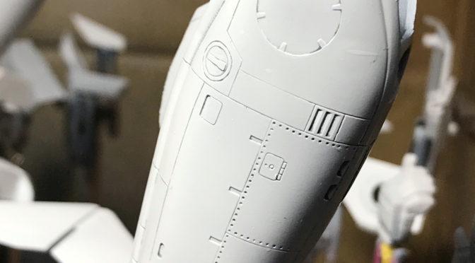 【ハセガワ】VF-1S ストライク バトロイド バルキリー(グレーで墨入れ。。。)