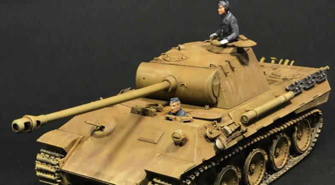 【タミヤ】1/35 ドイツ陸軍 パンサー 中戦車(完成。。。ウェザリングパステル。)