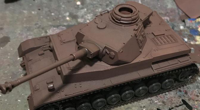 【タミヤ MMシリーズ 1/48】ドイツIV号戦車H型(汚し始め。。。)