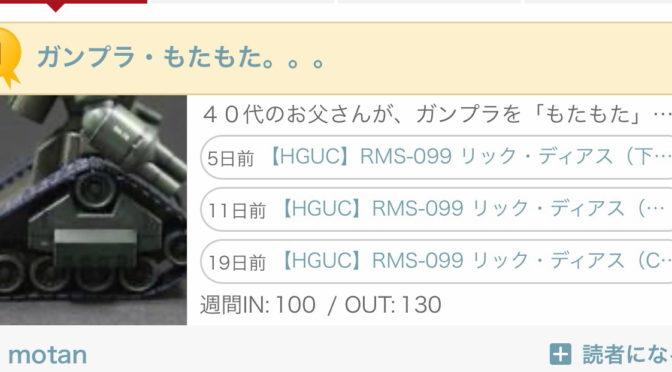【HGUC】RMS-099 リック・ディアス(筆塗りのコツ)+【閑話休題】継続は力なり。。。ブログ村ランキング1位いただきました。