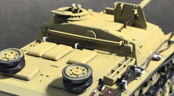 【タミヤ MMシリーズ 1/48】ドイツIII号突撃砲G型(瞬着って便利。。。)