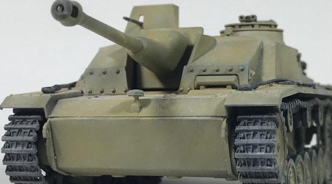 【タミヤ MMシリーズ 1/48】ドイツIII号突撃砲G型(完成、パステルで冬季仕上げ。。。)