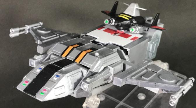 【スクラッチ】超次元戦闘母艦グランド・バース(その11:完成、ほぼ完全変形。。。)