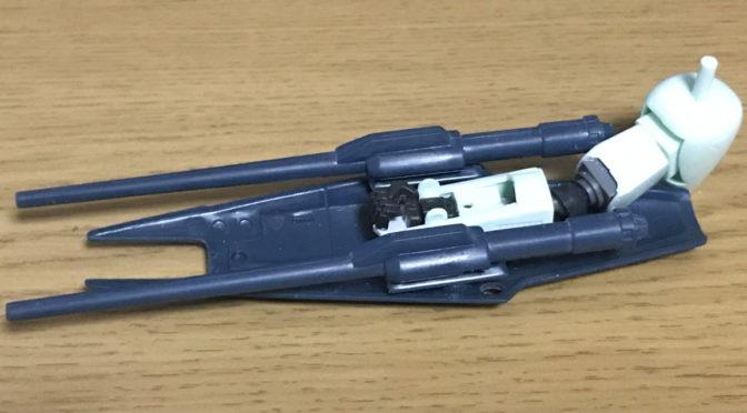 【旧キット】1/144 重装備型エルガイムMK-1(その5:武器のネオジム着脱+肘関節の改修。。。)
